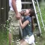 【素人 個人撮影】露出からフェラしてハメまですべて野外で撮影された不倫カップルの性癖